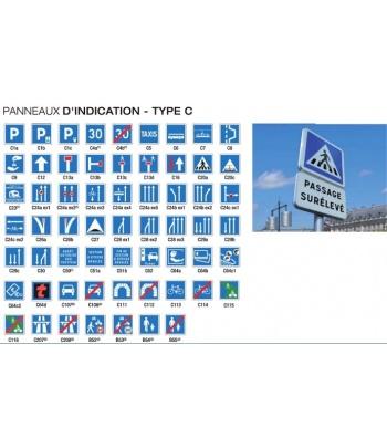 PANNEAUX D'INDICATION - TYPE C