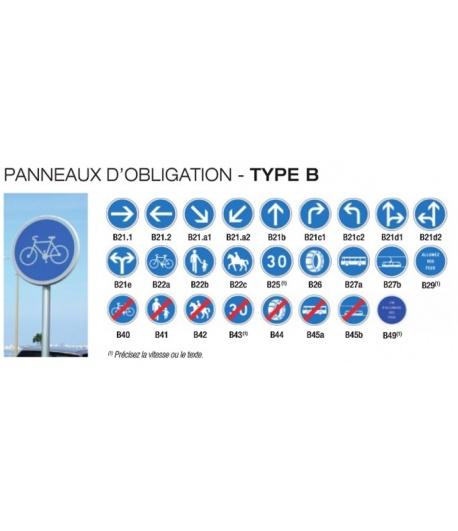PANNEAUX D'OBLIGATION - TYPE B